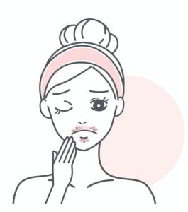 ムダ毛がきになる女性のイラスト