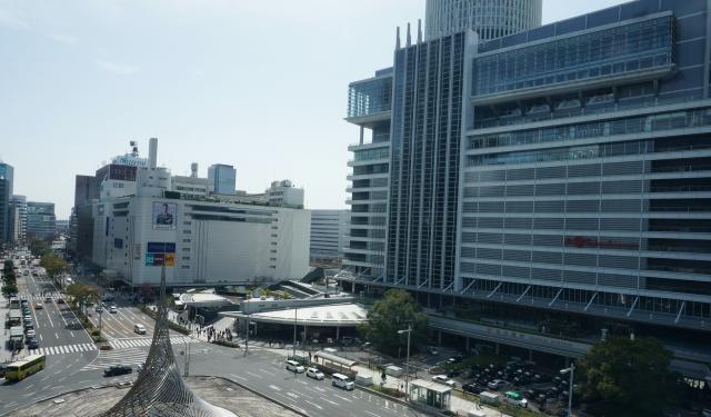 名古屋駅周辺の街並み