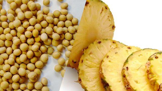 大豆とパイナップル