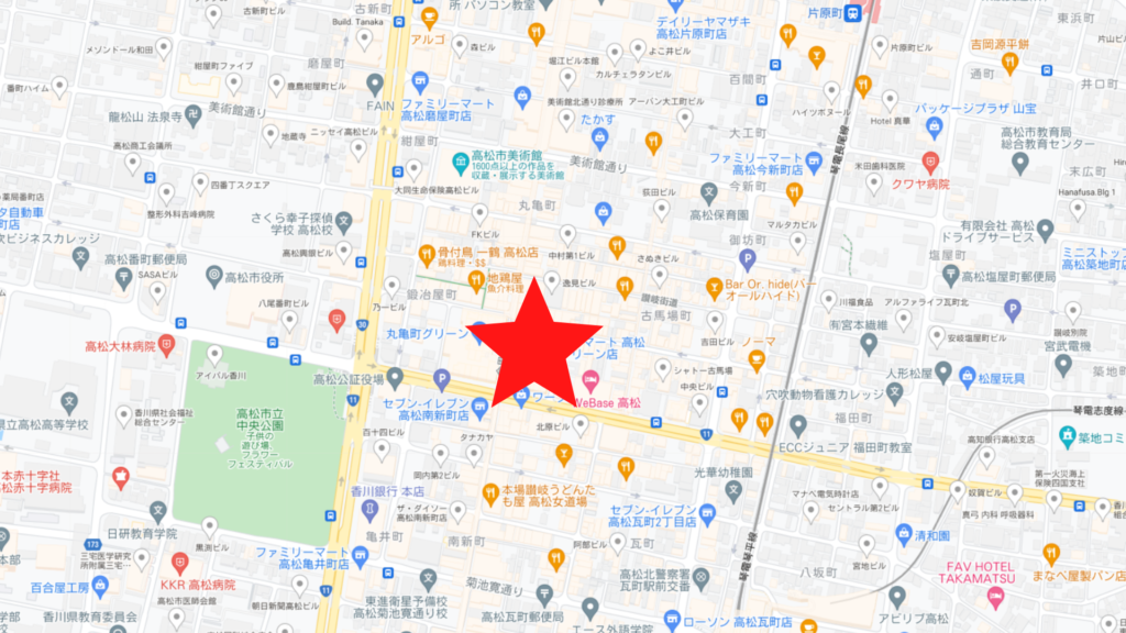 高松丸亀グリーン店地図